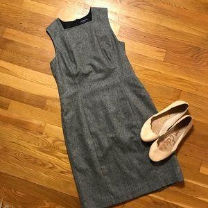 Ann Taylor sleeveless wool business grey Dress